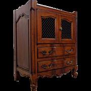 SALE Vintage French Walnut Louis XV Style Walnut Cabinet Nightstand
