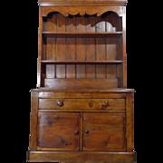 SALE 19th Century Antique Irish Pine Cupboard Vaisselier
