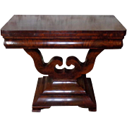 SALE 19th Century Antique English Victorian Period Mahogany Game Table