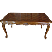 SALE Antique Country French Louis XV Style Provencal Walnut Dining Table
