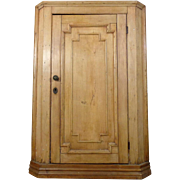 SALE 19th Century Antique Swedish Pine Corner Cabinet