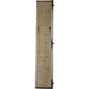 SALE Tall 19th Century Antique French Pine Shutter