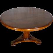 SALE 19th Century Antique English Regency Mahogany Round Table