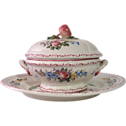 SOLD French Provencal Porcelain Soup Tureen
