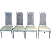 SALE Set of 4 Antique French Louis XVI Style Dining Chairs