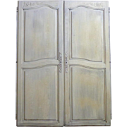 SALE Pair of Antique French Louis XV Style Provencal Cabinet Doors