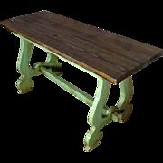 SALE Vintage Spanish Pine Breakfast Table