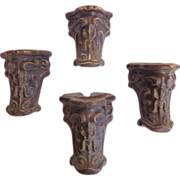 SALE Set of 4 19th Century Antique Cast Iron Bath Tub Feet