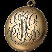 SALE Initials MEG Antique Locket