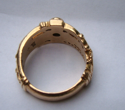 NEW 405 MARTIN LUTHER WEDDING BAND GOLD - wedding band gold