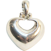 SALE Signed Joseph Esposito ESPO Sterling Large Heart Pendant Enhancer Vintage 19.50 Grams