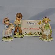 Goebel Figurines of Girls w/Dealer Plaque