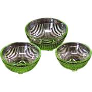 Miniature Mixing Bowl Set Marked Stacy Marie