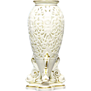 Grainger & Co. Worcester Porcelain Potpourri Vase