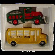 Dept. 56 School Bus & Snow Plow