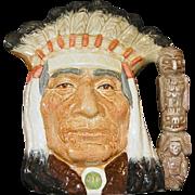 """Royal Doulton Character Jug """"North American Indian"""" D6611"""