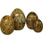 4 Satsuma Porcelain Eggs