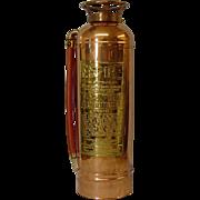 Copper American LaFrance Fire Extinguisher