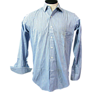 1930s Mens Lasalle and Koch's English Slotted Collar Tattersall Shirt