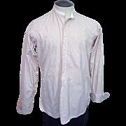 SALE Edwardian Sindorf and Stein Milwaukee banded collar striped shirt