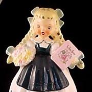 Goldilocks Full Figurine Planter Napco