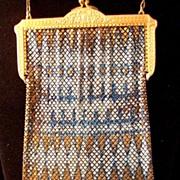 Vintage Mandalian Mesh Purse Handbag Signed