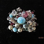 Vintage Vendome Multi Color Brooch Pendant