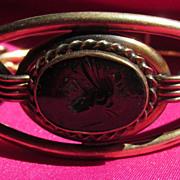Vintage Intaglio Ornate Bangle Bracelet