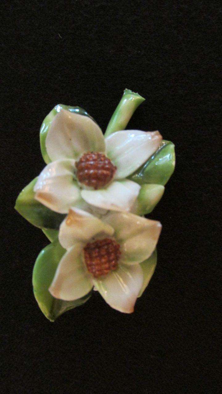 Adderley Floral Made In England Porcelain Brooch