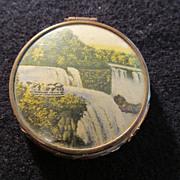 Vintage Souvenir Compact Rouge Case Niagara Falls