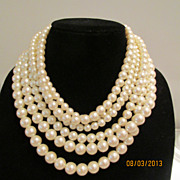 Fabulous Six Strand Vintage Necklace