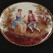 Vintage Victorian Style  Couple Portrait Brooch
