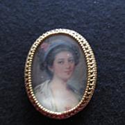 Vintage Florenza Portrait Pin Rose In Hair