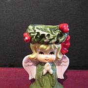 Lefton Angel Christmas Candle Holder
