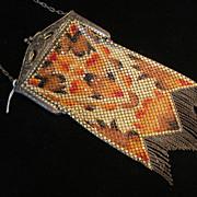 Mandalian Vintage Painted Enamel Mesh Purse
