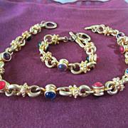 Multi Color Necklace & Bracelet