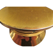 USN Military Hat Metal WWII Souvenir Compact Pill Box