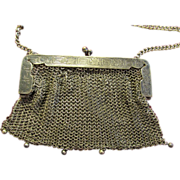 Lovely Vintage German Silver Purse Handbag 1910 Patent