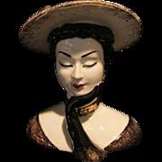 "SOLD Lefton Lady Head Vase 7"""