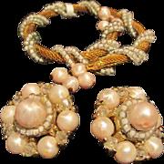 Vintage Coro Bracelet & Earrings