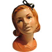 "Rare 8.5"" Topline Lady Head Vase Collectible Vintage"