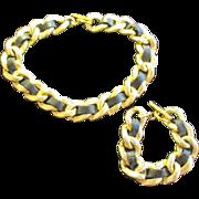 Stunning Necklace w/ Bracelet Designer Inspired
