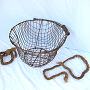 Antique Wire New England Clam Basket