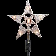 Vintage Lighted Star Tin Smith Trade Sign Western Pennsylvania