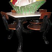 Antique Ice Cream Parlor Table Cast Iron