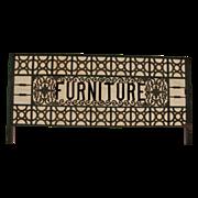 Fabulous & Rare Victorian Furniture Trade Sign