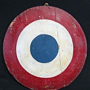Vintage Carnival Target or Decoration Painted Canvas