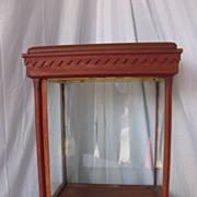 Antique Folk Art Decorated Wooden Display Case