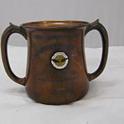 Antique Copper Golf Trophy Cup New Brunswick Golf Club 1907