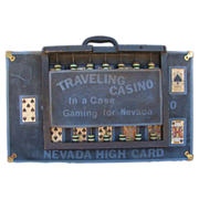 Antique Miners Traveling Gambling Case Old West Americana